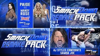 WWE SMACKDOWN LIVE 2018 REMAKE PACK (New Match Card And Promo) PSD Y PARTES BY Jika