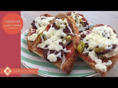 Kahvaltılık Ekmek Üstü Pizza Tarifi | Fırında Kahvaltılık Ekmek Dilimleri