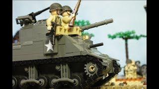лЕГО БИТВА у Поместья Брекур WW2, День-Д, высадка в Нормандии (Братья по оружию-3)