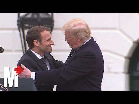 Trump and Macron's awkward displays of affection