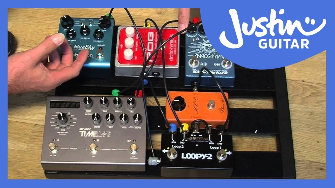 wiring my fx loop pedal board guitar lesson gg 124 how to [ 1280 x 720 Pixel ]