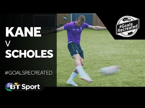 Harry Kane attempts to recreate Paul Scholes wonder goal #GoalsRecreated