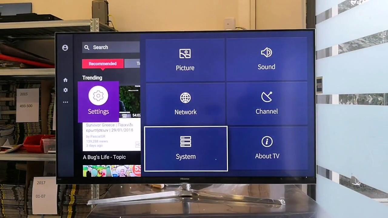 Hisense H55NU8700 4K ULED television Unboxing