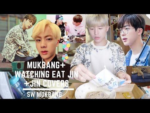 SW MUKBANG ▶ EAT JIN🤗+ REACTION JIN COVER (Mom 엄마 + 난 너를 사랑해 I Love You)丨냉면 초코파이 먹방