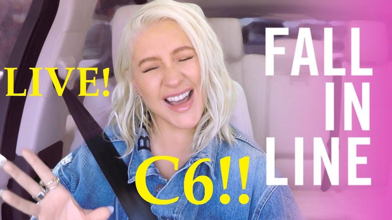 Christina Aguilera Fall in line Carpool Karaoke (C6) live!