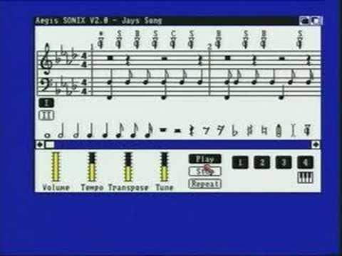 Old Commodore Amiga Programs - Sonix