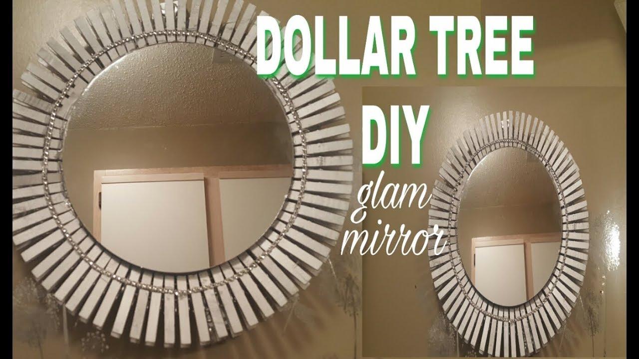 EASY DOLLAR TREE DIY GLAM MIRROR DECOR - YouTube