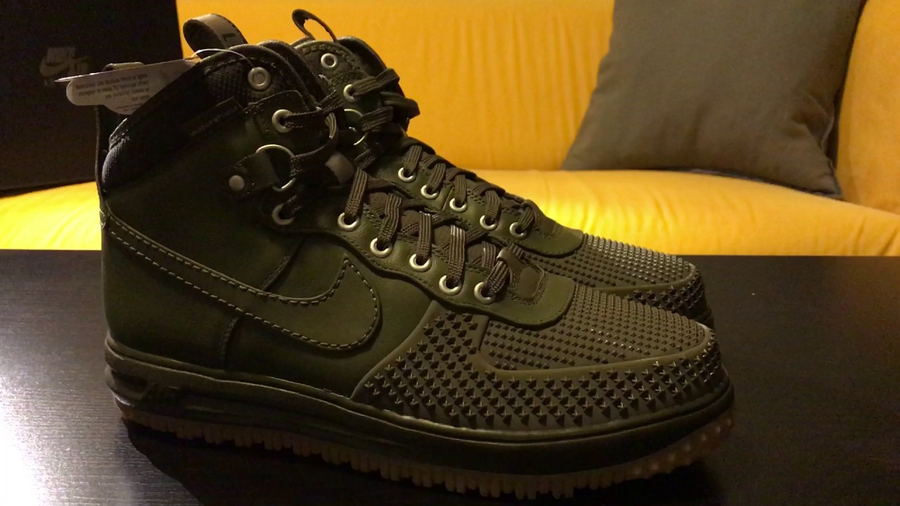 Nike Lunar Force 1 Duckboot - Medium Olive Green - YouTube b4bb70c88