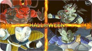 Dragon Ball Halloween! Demon Beerus & Ghost Nappa VS Zombie Goku & Zombie Vegeta