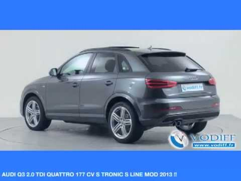 vodiff audi occasion alsace audi q3 2 0 tdi quattro 177 cv s tronic s line mod 2013 youtube. Black Bedroom Furniture Sets. Home Design Ideas