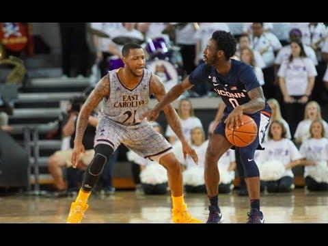 UConn Men's Basketball Highlights v. ECU 02/18/2018