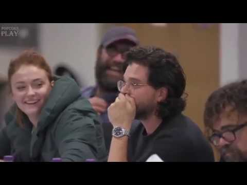 Game Of Thrones Cast React To Season 8 At Final Table Read   Emilia Clarke