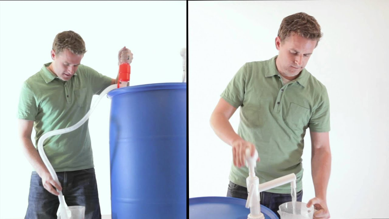 Get water out of your barrel/drum easier with this pump