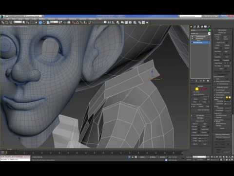 Cartoon Character For Production 3DMax (Modeling : Body) : 02  (06)