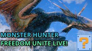 QBG Plays- Monster Hunter Freedom Unite! Monster Hunter World HYPE!!!
