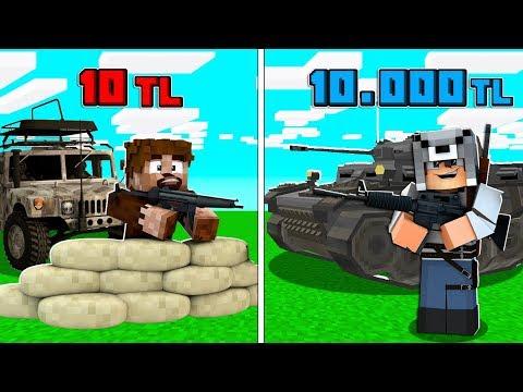 1 TL ASKER VS 10.000 TL ASKER! 😱 - Minecraft