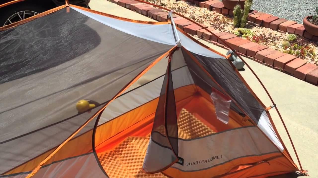REI Quarter Dome 1 tent review & REI Quarter Dome 1 tent review - YouTube