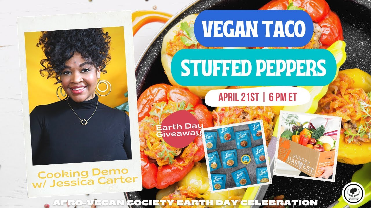 Live Cooking Demo with Jessica: Making Vegan Taco Stuffed Bell Peppers