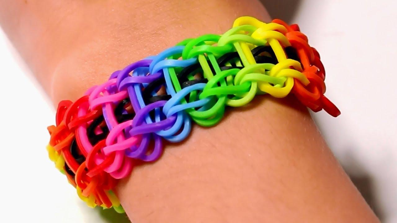 Rainbow loom Nederlands - Ladder armband || Loom bands ...
