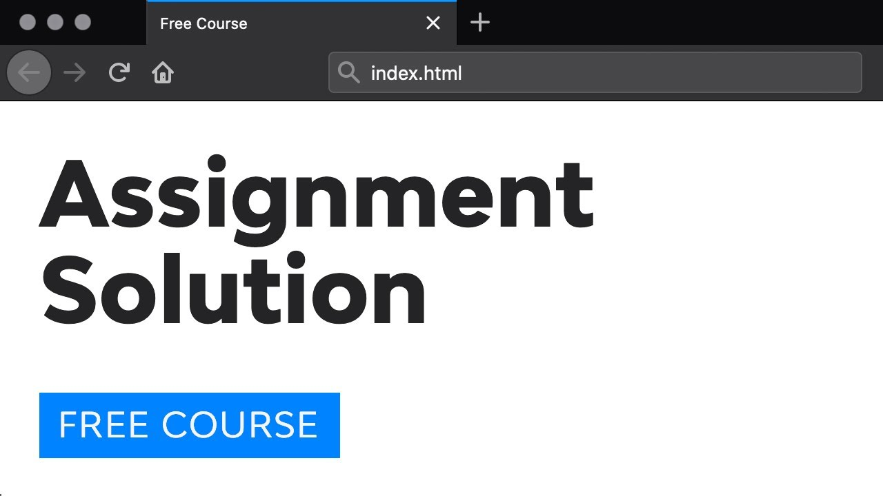 Day 14: Assignment Solutions (30 Days to Learn HTML & CSS)