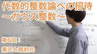 素元と既約元 【代数的整数論への招待〜ガウス整数〜】第6回
