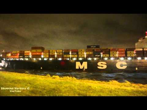 10+ Beaufort - MSC Vidhi going in the lock !!!
