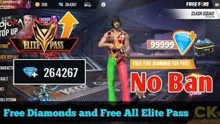 How To Get Free Diamonds in Free Fire   Get Unlimited Diamonds   Free Elite Pass - Garena Free Fire