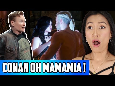 The Witcher 3 - Conan OBrien Clueless Gamer Reaction | He Just Wants A Happy Ending!