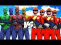 TEAM SPIDER-MAN VS GAO RED ARMY