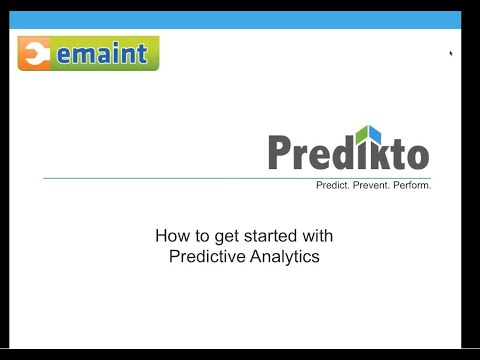 eMaint Best Practices Webinar: Using Predictive Analysis to Enhance your PdM Processes