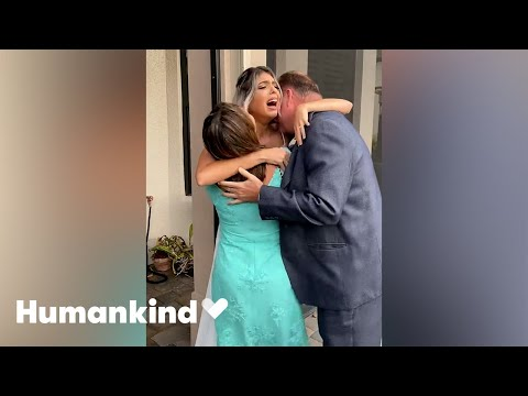 Bride falls to her knees at her family's surprise | Humankind
