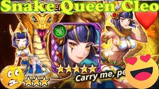 Valkyrie Connect Queen Snake Cleo Solo Power Test ( new Moon Party Hero) Pretty Ranged Hero
