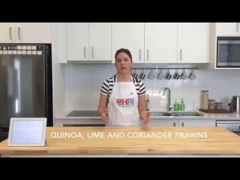Coriander Prawns With Quinoa And Lime Recipe