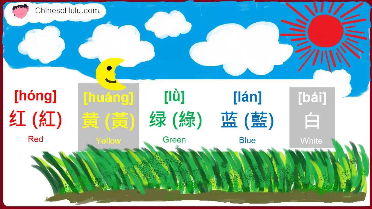 Learn Speak Mandarin Chinese - Colors 1- Red, Yellow, Green, Blue ...