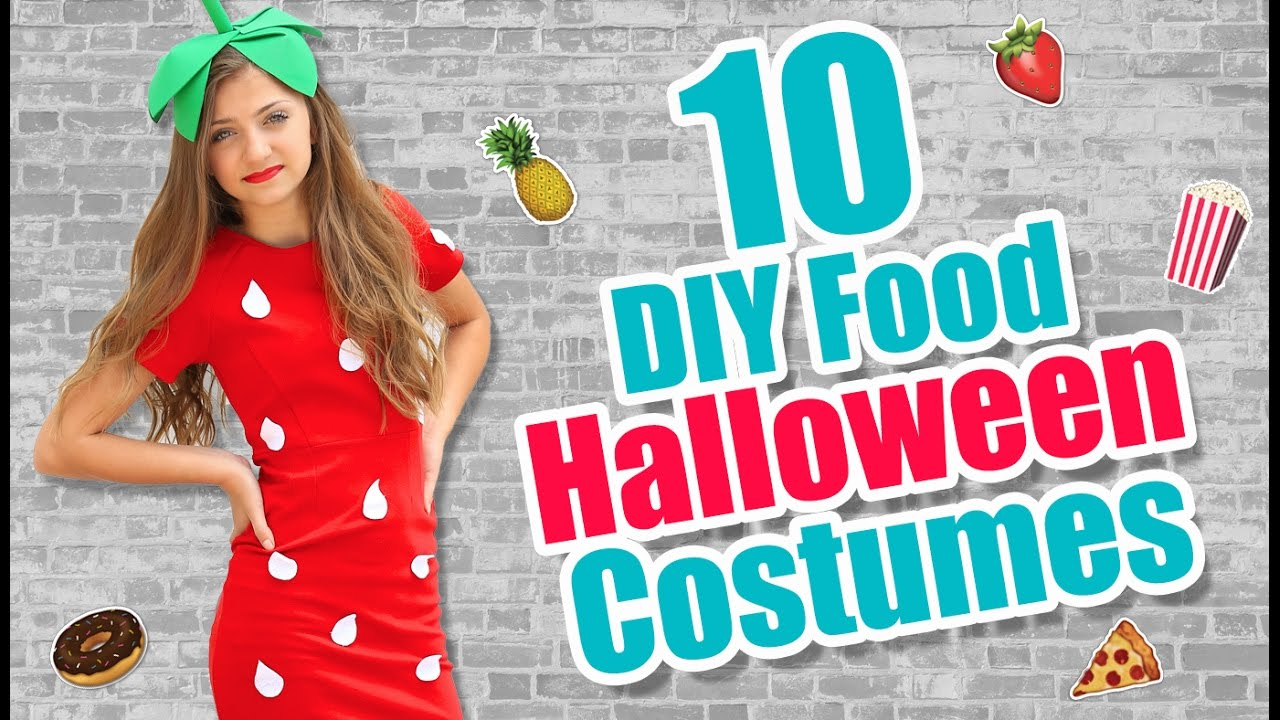 10 food inspired diy halloween costume ideas kamri noel youtube - Halloween Food Costume