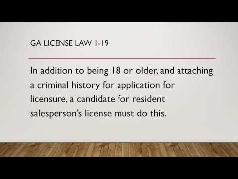 GA License Law 1 Fun Game