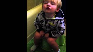Liam's exhausting potty training exercise
