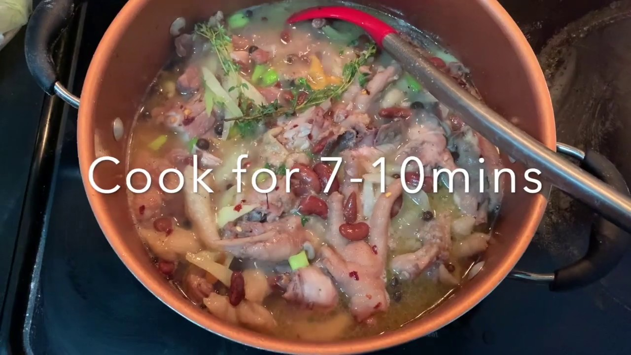 stewed peas with chicken back/thighs/feet  youtube