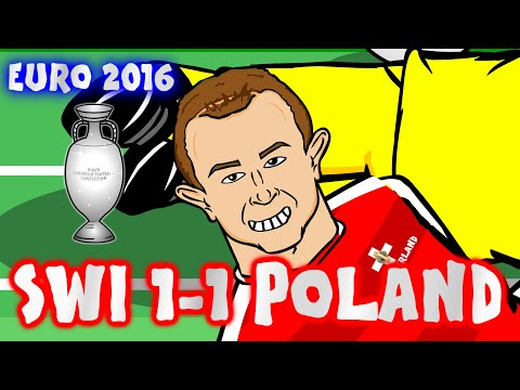 SHAQIRI BICYCLE KICK! Switzerland vs Poland in 25 SECONDS! (1-1 Euro 2016 Last 16 Highlights)