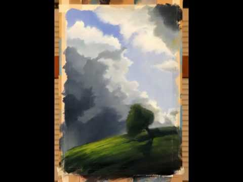 Cloud painting demonstration in Acrylic by Don Milner (21 sec)