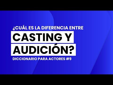 ¿Cuál es la DIFERENCIA entre CASTING y AUDICIÓN?   📖🎬 DICCIONARIO para ACTORES #9