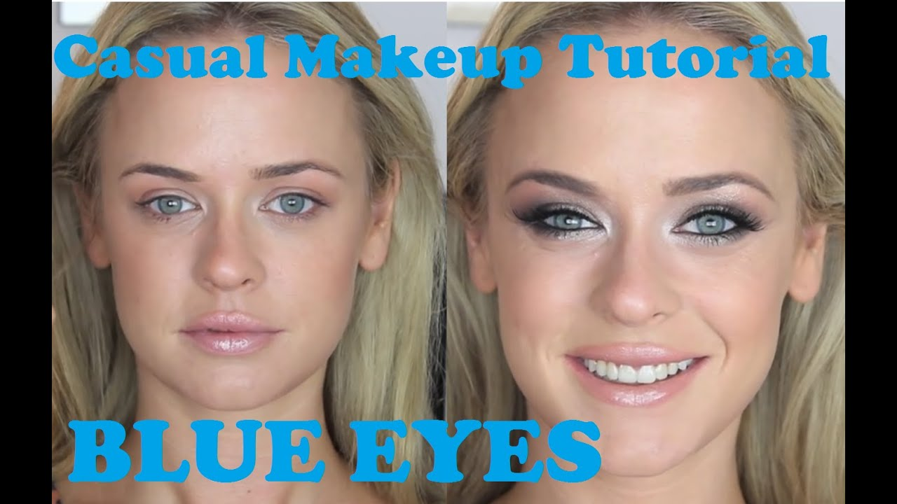 casual makeup tutorial for blue eyes ultimate bronze