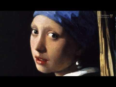 La jeune fille à la perle  Par le peintre néerlandais Jan Vermeer