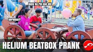 Helium Beatbox Prank! Parang edited sa sobrang galing!
