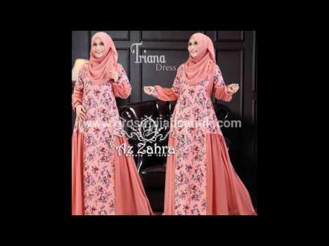Jual Baju Muslim Online | Baju Gamis Syar'i | Baju Gamis model Baru | Triana Dress By Az Zahra