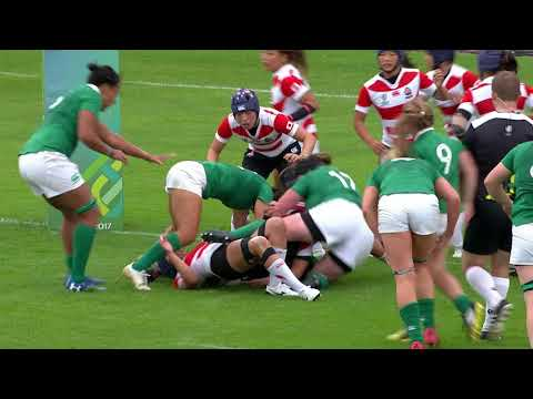 Highlights: Ireland score late to secure win over Japan at the Women's Rugby World Cup