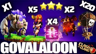 How to GoVaLaLoon - TH10 3 Star Attack Strategy | Th10 GoVaLaLo | Best Th10 Lavaloon Clash of Clans