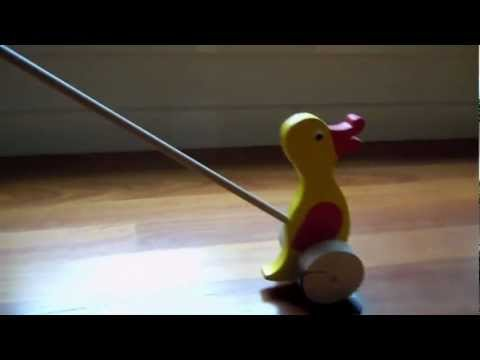 wooden duck toy on a stick 2