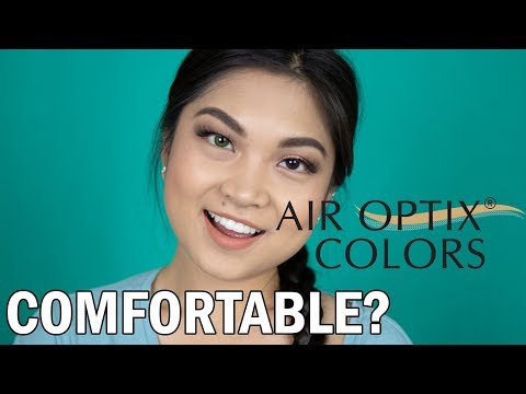AIR OPTIX COLORS TRY ON & REVIEW FOR BROWN EYES AFTER LASIK