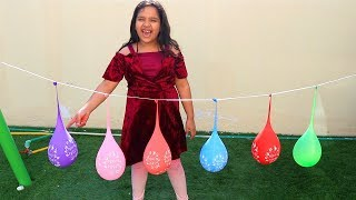 Shfa Bernyanyi FINGER FAMILY SONG Belajar Warna Dengan Balon & Meletuskanya